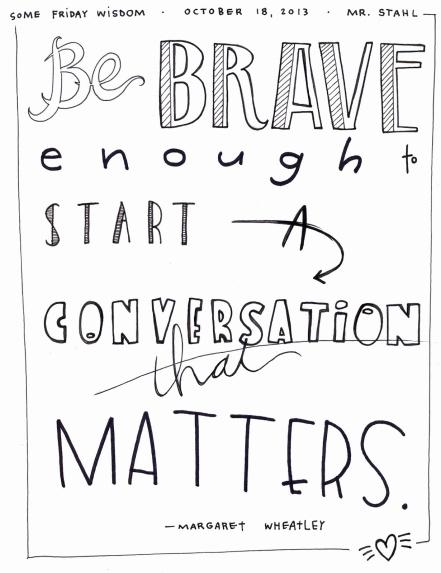 13.10.18 Conversations That Matter